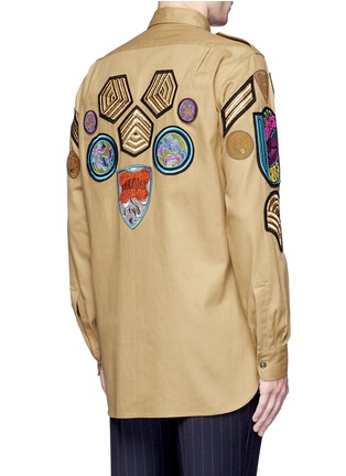 Back View - Click To Enlarge - Dries Van Noten - 'Cameron' military badge shirt