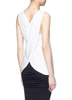 Wrap back cotton tank top