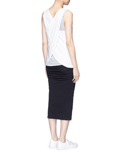 James Perse Wrap back cotton tank top