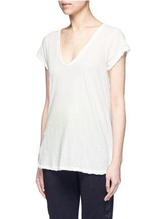 Front View - Click To Enlarge - James Perse - Deep V-neck slub jersey T-shirt