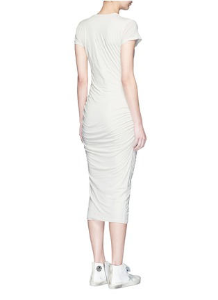 Back View - Click To Enlarge - James Perse - Ruche side jersey dress