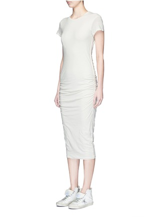 Front View - Click To Enlarge - James Perse - Ruche side jersey dress