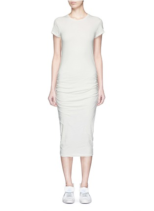 Main View - Click To Enlarge - James Perse - Ruche side jersey dress