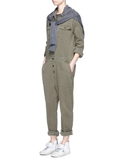 James Perse Cotton-linen jumpsuit