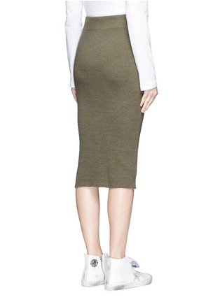 James Perse - Dense cotton rib knit pencil skirt