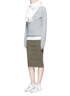 James Perse Dense cotton rib knit pencil skirt