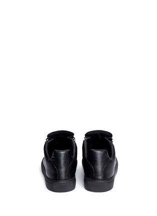 Back View - Click To Enlarge - Balenciaga - Lambskin leather low top sneakers