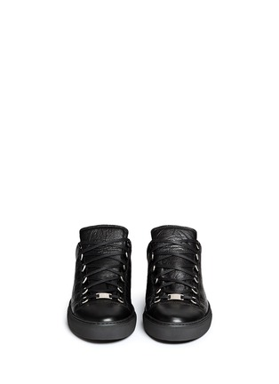 Front View - Click To Enlarge - Balenciaga - Lambskin leather low top sneakers