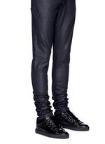 Lambskin leather low top sneakers