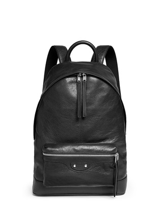 Main View - Click To Enlarge - Balenciaga - Matte lambskin leather backpack