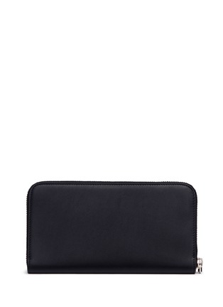 Figure View - Click To Enlarge - Balenciaga - Perforated logo leather continental wallet