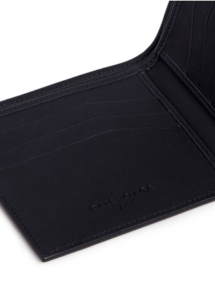 Detail View - Click To Enlarge - Balenciaga - Perforated logo calfskin leather bifold wallet