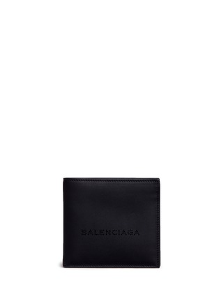 Main View - Click To Enlarge - Balenciaga - Perforated logo calfskin leather bifold wallet