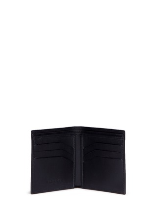 Figure View - Click To Enlarge - Balenciaga - Perforated logo calfskin leather bifold wallet