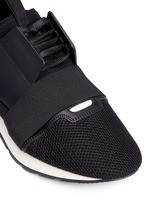 'Race Runners' leather neoprene sneakers