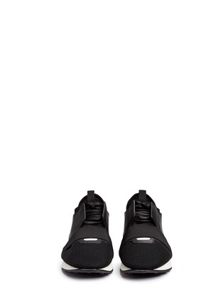 Front View - Click To Enlarge - Balenciaga - 'Race Runners' leather neoprene sneakers