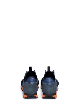 Back View - Click To Enlarge - Balenciaga - Colourblock mix neoprene sneakers