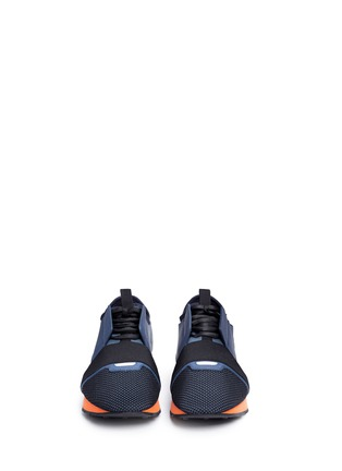 Front View - Click To Enlarge - Balenciaga - Colourblock mix neoprene sneakers