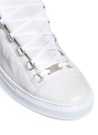 Detail View - Click To Enlarge - Balenciaga - Lambskin leather low top sneakers