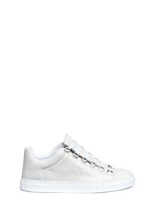 Balenciaga-Lambskin leather low top sneakers