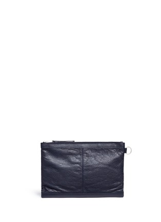 Balenciaga - 'Clip' medium matte leather zip pouch