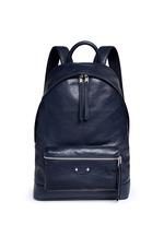 Matte lambskin leather backpack