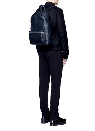 Figure View - Click To Enlarge - Balenciaga - Matte lambskin leather backpack