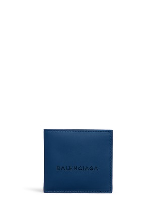 Main View - Click To Enlarge - Balenciaga - Perforated logo leather bifold wallet