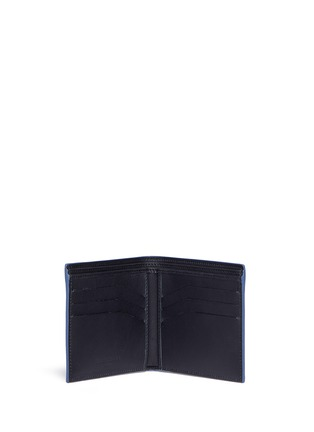 Figure View - Click To Enlarge - Balenciaga - Perforated logo leather bifold wallet