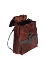 'Traveller' corrosion-effect print nylon backpack