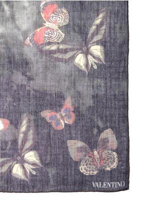 Valentino-Butterfly tie dye print cashmere-silk-wool scarf