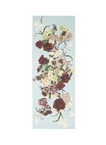 Floral print silk chiffon scarf