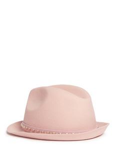 Valentino'Rockstud' angora fur felt trilby hat