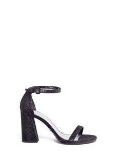 Stuart Weitzman 'Walk Way' glitter mesh sandals
