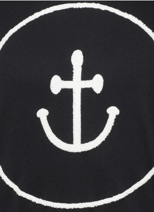 Detail View - Click To Enlarge - Insted We Smile - Smiley face anchor appliqué sweatshirt