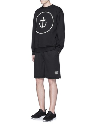 Figure View - Click To Enlarge - Insted We Smile - Smiley face anchor appliqué sweatshirt