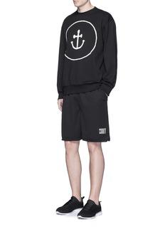 Insted We SmileSmiley face anchor appliqué sweatshirt