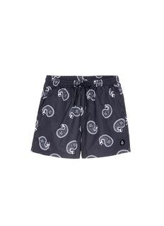 Insted We SmilePaisley print swim shorts