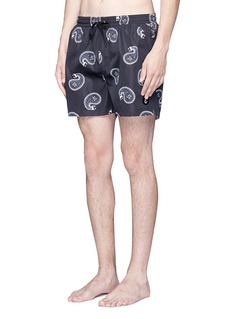Insted We Smile Paisley print swim shorts