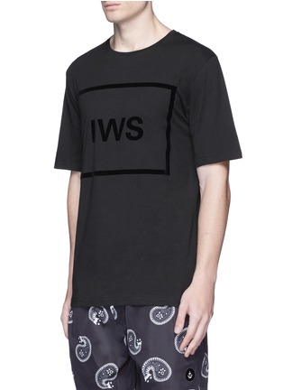 Front View - Click To Enlarge - Insted We Smile - Logo block appliqué T-shirt
