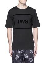 Logo block appliqué T-shirt