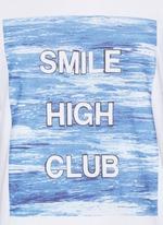 'Smile High Club' print T-shirt