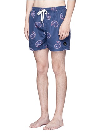 Figure View - Click To Enlarge - Insted We Smile - Paisley print swim shorts