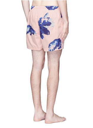 Back View - Click To Enlarge - Insted We Smile - 'Pettibon' digital print swim shorts
