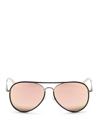Main View - Click To Enlarge - Matthew Williamson - Coated rim metal aviator mirror sunglasses