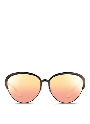 Matthew Williamson-Wire rim cat eye mirror sunglasses