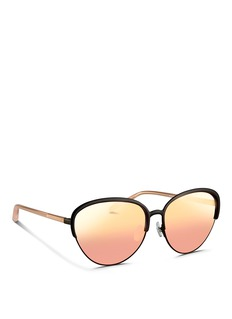 MATTHEW WILLIAMSON Wire rim cat eye mirror sunglasses
