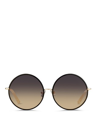 Main View - Click To Enlarge - Matthew Williamson - Contrast wire rim oversize round sunglasses