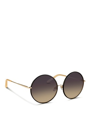 Figure View - Click To Enlarge - Matthew Williamson - Contrast wire rim oversize round sunglasses