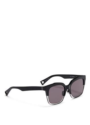 Figure View - Click To Enlarge - Haze - 'Buzz' wire rim sunglasses